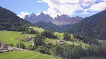 Aerial travel drone view of South Tyrol, Italy and the Dolomites mountains. video