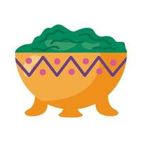 guacamole avocado sauce detailed style icon vector
