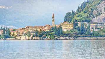 Varenna village on the Como lake, Italy photo