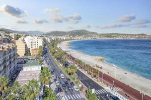 Promenade Des Anglais in the city of Nice in summer photo