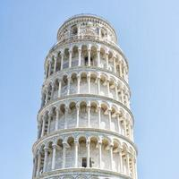 torre inclinada de pisa, italia foto