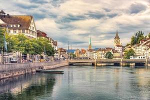 Zurich city in the daytime, Switzerland photo