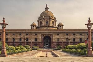 rashtrapati bhavan, la casa del presidente de la india y la oficina del ministerio del interior del gobierno indio en nueva delhi, india foto