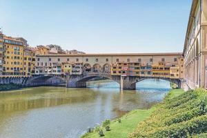 Ponte Vecchio bridge in Florence, Italy photo