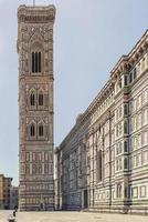 Facade of The Basilica of Saint Mary of the Flower in Florence, Italy photo
