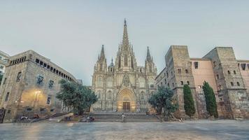 Barcelona Cathedral in the evening, Spain photo