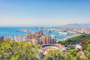 Panorama of Malaga city in Andalusia, Spain photo