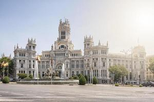 Madrid ciudad durante el día, España foto