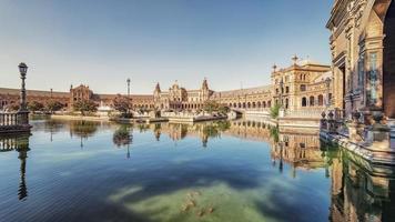 Plaza de España en Sevilla, Andalucía, España foto