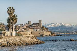 The coastline on the French Riviera in Antibes photo