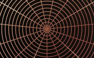 spider web design with rose gold and black vector