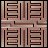 maze design monoline style in rose gold vector