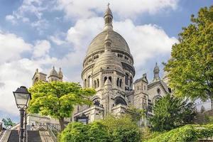 The Sacre-Coeur Basilica in Montmartre, Paris photo