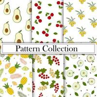A fruity summer pattern on a white background vector