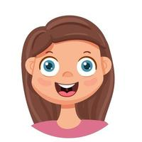 The happy girl laughs. Human emotions. Vector avatar with a happy woman.