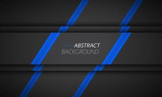 Black and blue material design background. Modern wallpaper with overlap layers with free space for your text. Widescreen vector illustration