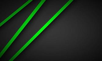 Abstract background with green and black layers above each other. Modern design template for your business. Vector illustration with oblique stripes and lines