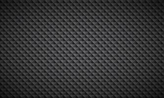 Abstract black and grey background composed of triangles with different transparency, modern vector seamless pattern, metallic look