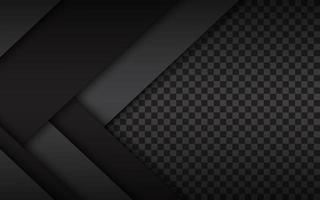 Black and white layers above each other, modern material design with a hexagonal pattern, corporate template for your business, vector abstract widescreen background