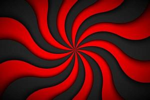 Decorative modern red spiral background. Swirling radial pattern. Simple abstract vector illustration