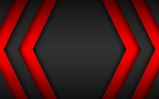 Black and red overlap arrows abstract background. Modern material design. Widescreen background vector