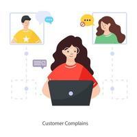 Customer Complains premium vector