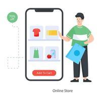 concepto de tienda online vector