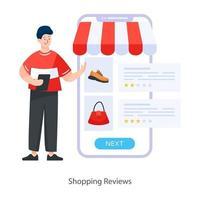 Shopping Reviews Concept vector