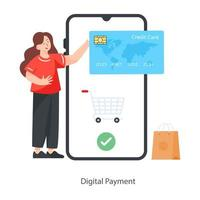 Digital Payment Concept vector