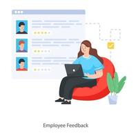 Employee Feedback Concept vector