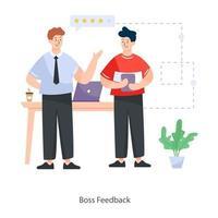 Boss Feedback Concept vector