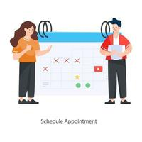 Schedule Appointment  Concept vector