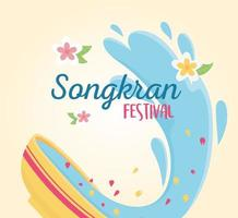 songkran festival of water in thailand event celebration vector