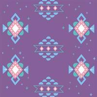 étnico hecho a mano, adorno de alfombra arabesco fondo púrpura vector