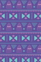 étnico hecho a mano, patrón de diseño de alfombra de adorno tribal africano vector