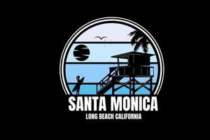 santa monica long beach california color blue gradient vector