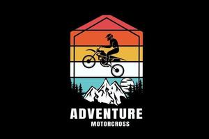 adventure motocross color red white and green vector