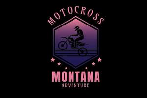 motocross montana adventure color pink and purple vector