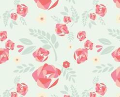 Vintage floral background design vector