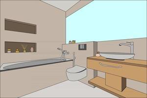 bathroom scene perfect for background vector