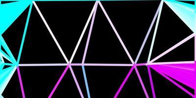 diseño de polígono degradado vector azul rosa claro