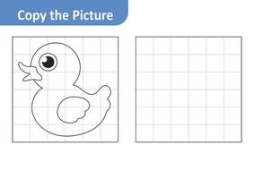 Copy the Picture Worksheet for Kids, Duck Vector