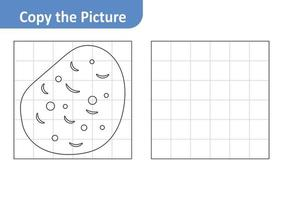 Copy the Picture Worksheet for Kids, Potato Vector