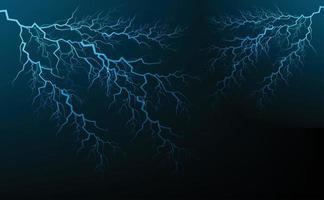 perno potente descarga eléctrica golpeando vector