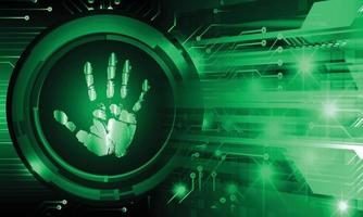 hand Finger print network cyber security background. vector