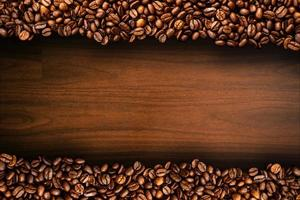Top down whole coffee beans photo