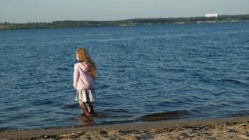 Little Girl Walking Into the Water video