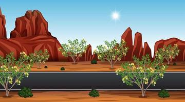 fondo del camino del desierto vector