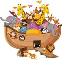 Animal on Noah's ark isolated on white background vector
