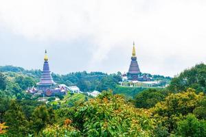 Landmark pagoda in doi Inthanon national park at Chiang Mai, Thailand. photo